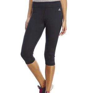 Adidas Black Cropped Capri Leggings